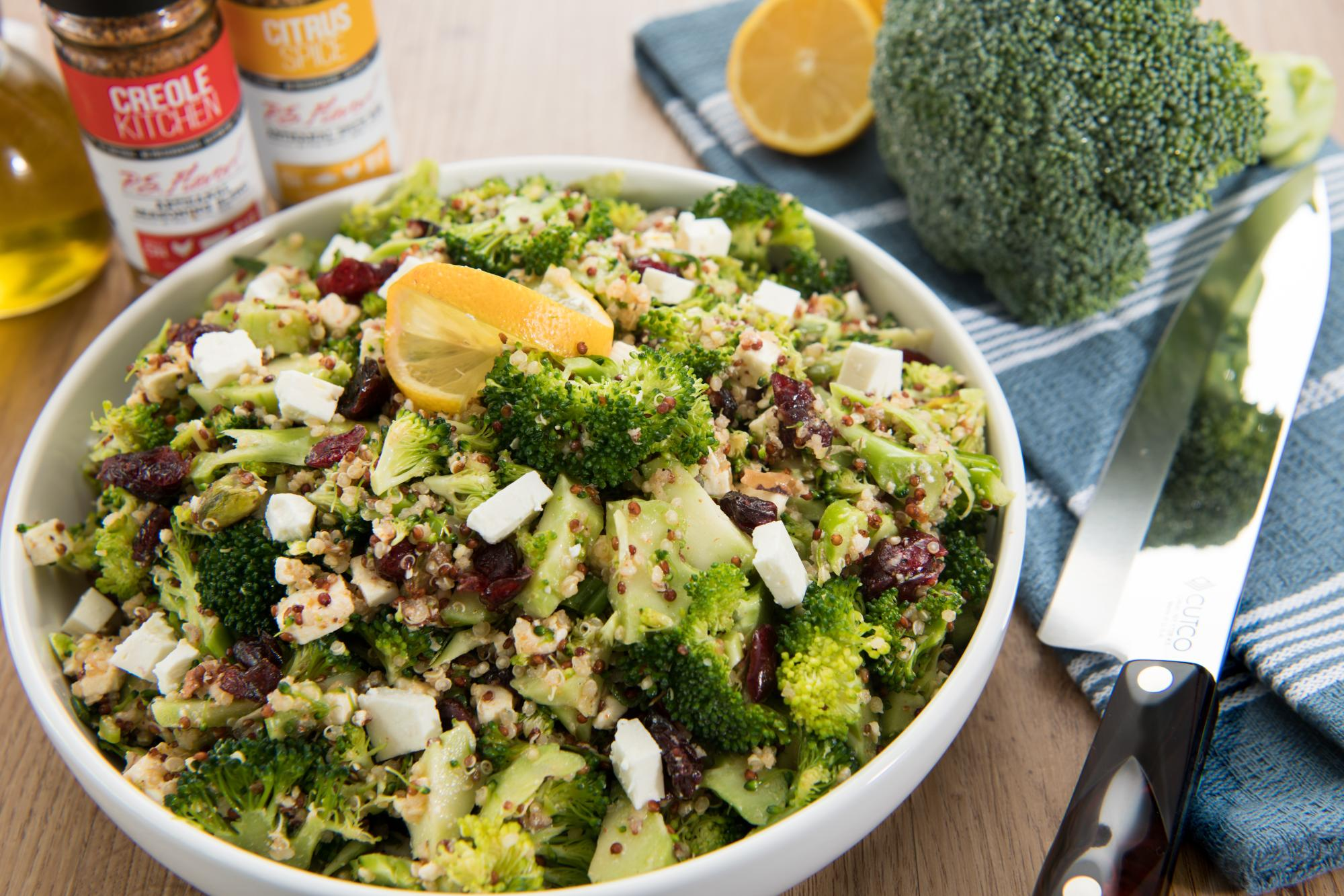 Citrus Spiced Broccoli and Quinoa Salad