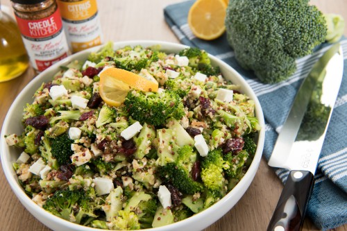 Citrus Spiced Broccoli and Quinoa Salad