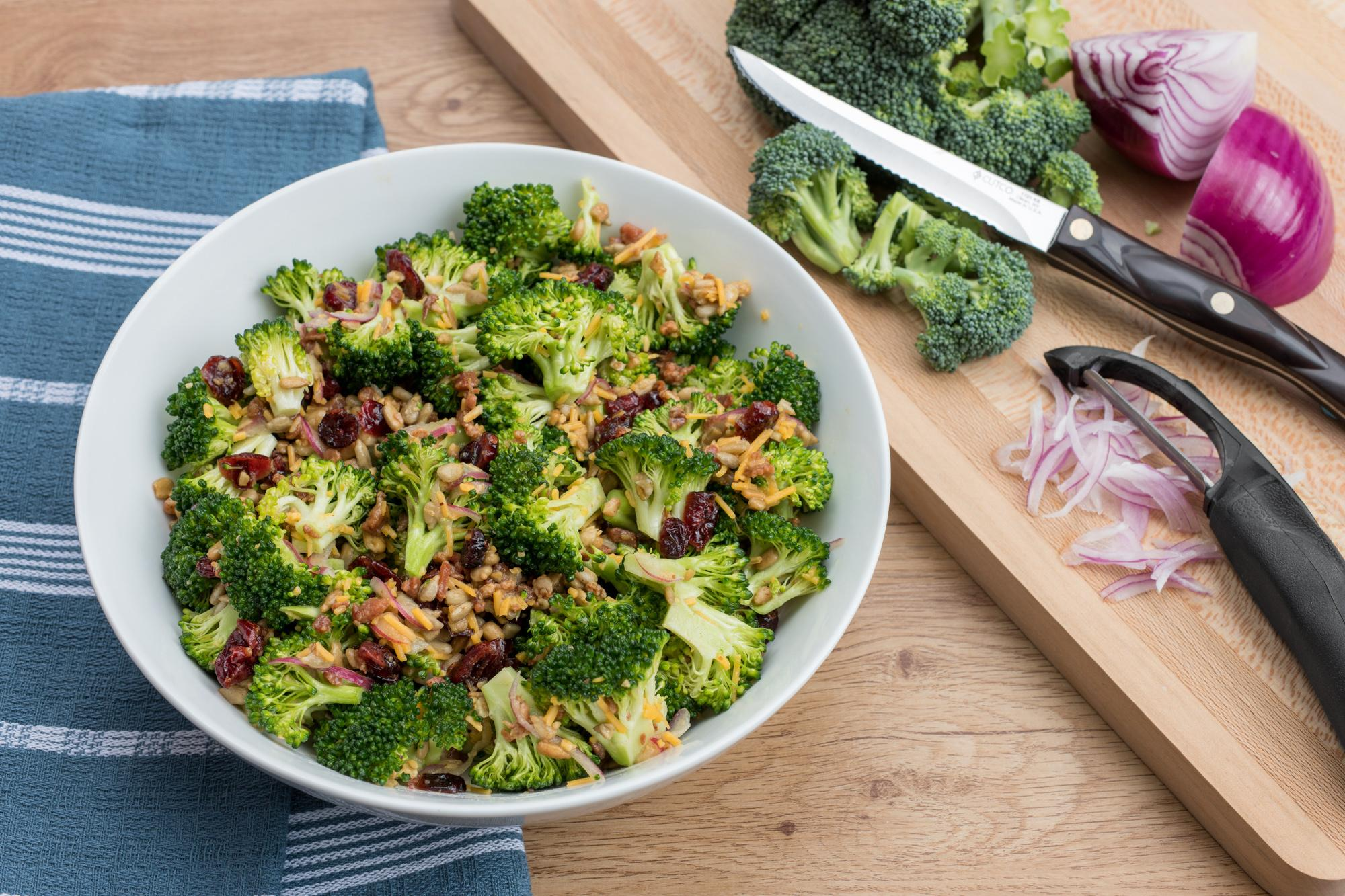 Easy Broccoli Salad With Dijon Vinaigrette