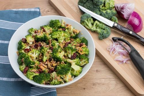 Easy Broccoli Salad With Dijon Vinaigrette