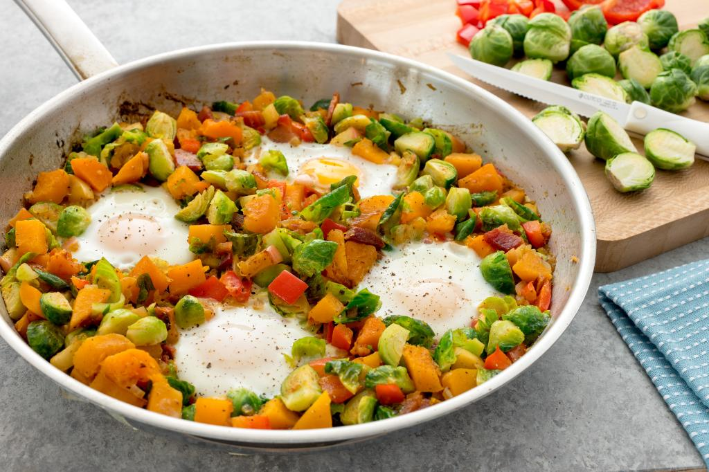 Brussels Sprouts Skillet Hash