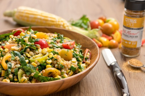 Summer Corn, Couscous and Cherry Tomato Salad