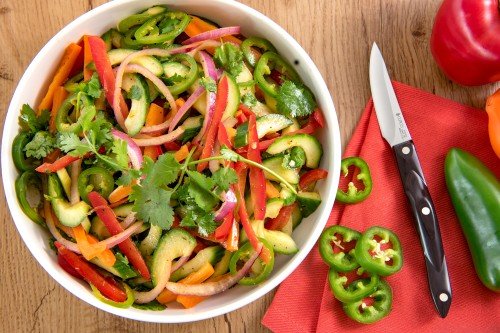 Cucumber, Red Pepper and Jalapeño Slaw