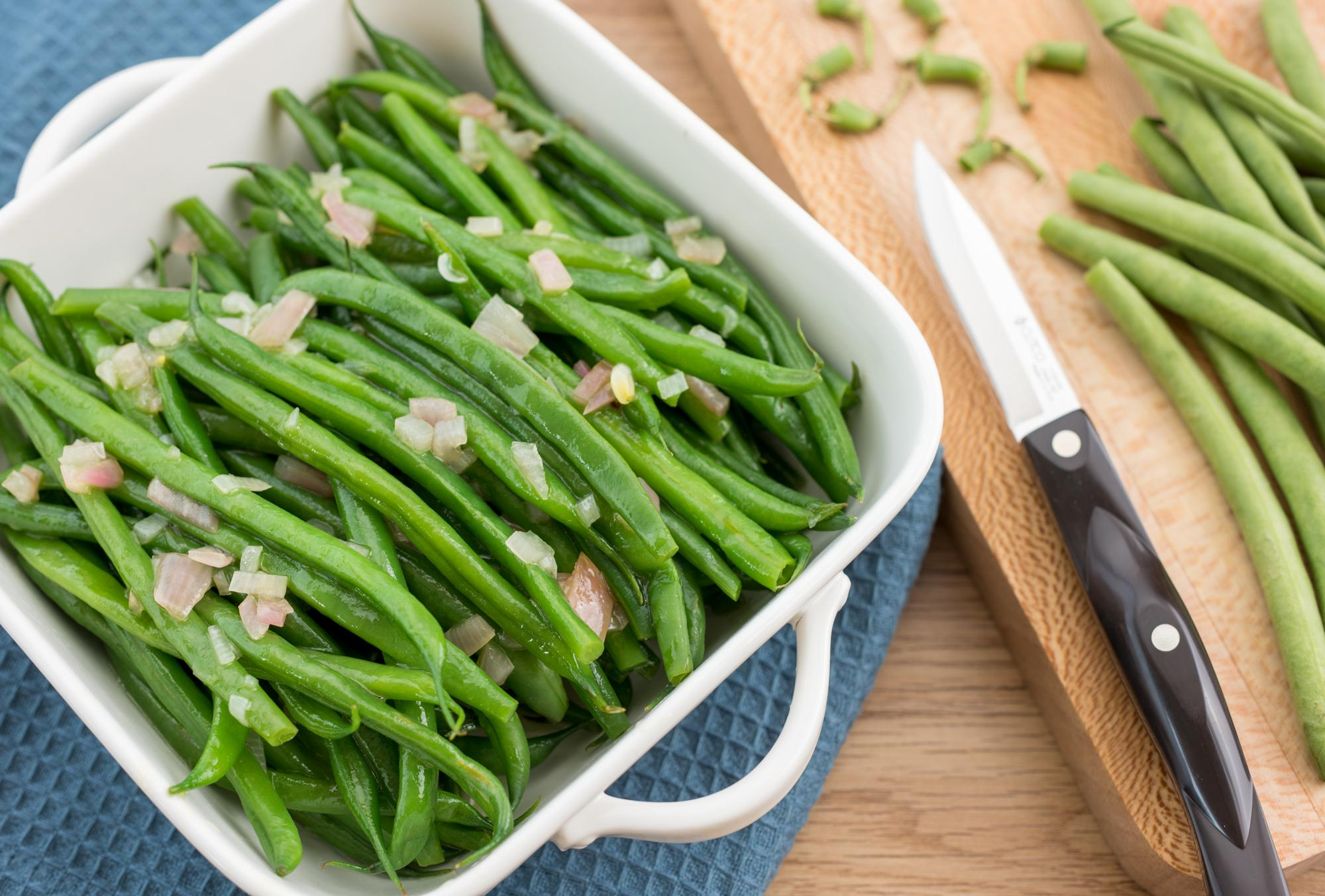Green Beans with Warm Shallot Vinaigrette