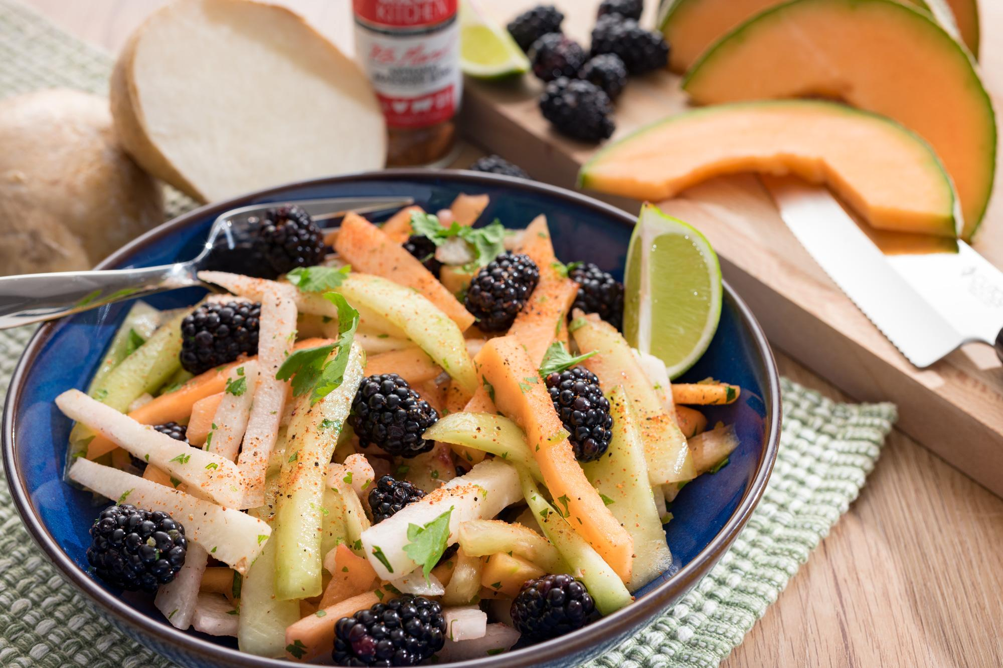 Blackberry, Melon and Jicama Slaw