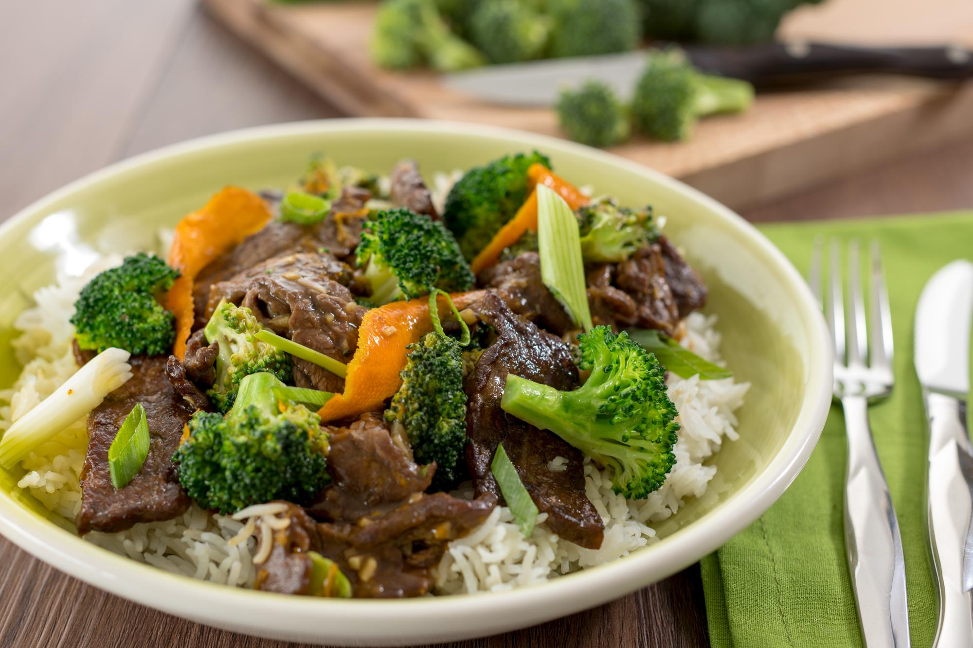 Beef and Broccoli Stir-Fry with Orange Sauce