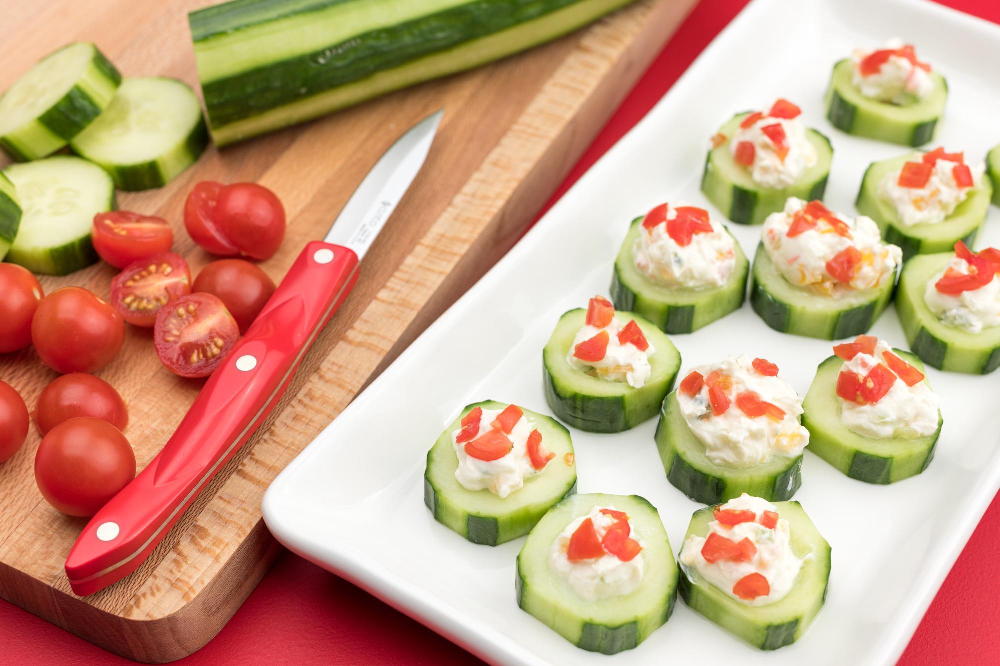 Vegetable Dip Bites