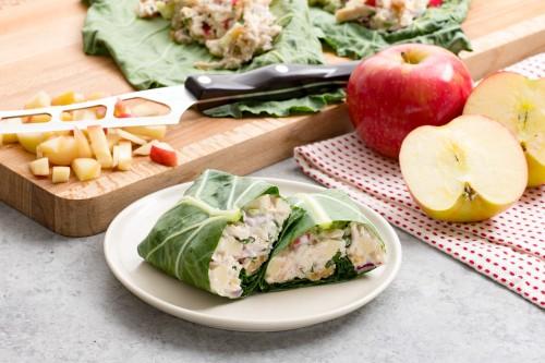 Waldorf Chicken Salad Collard Wrap