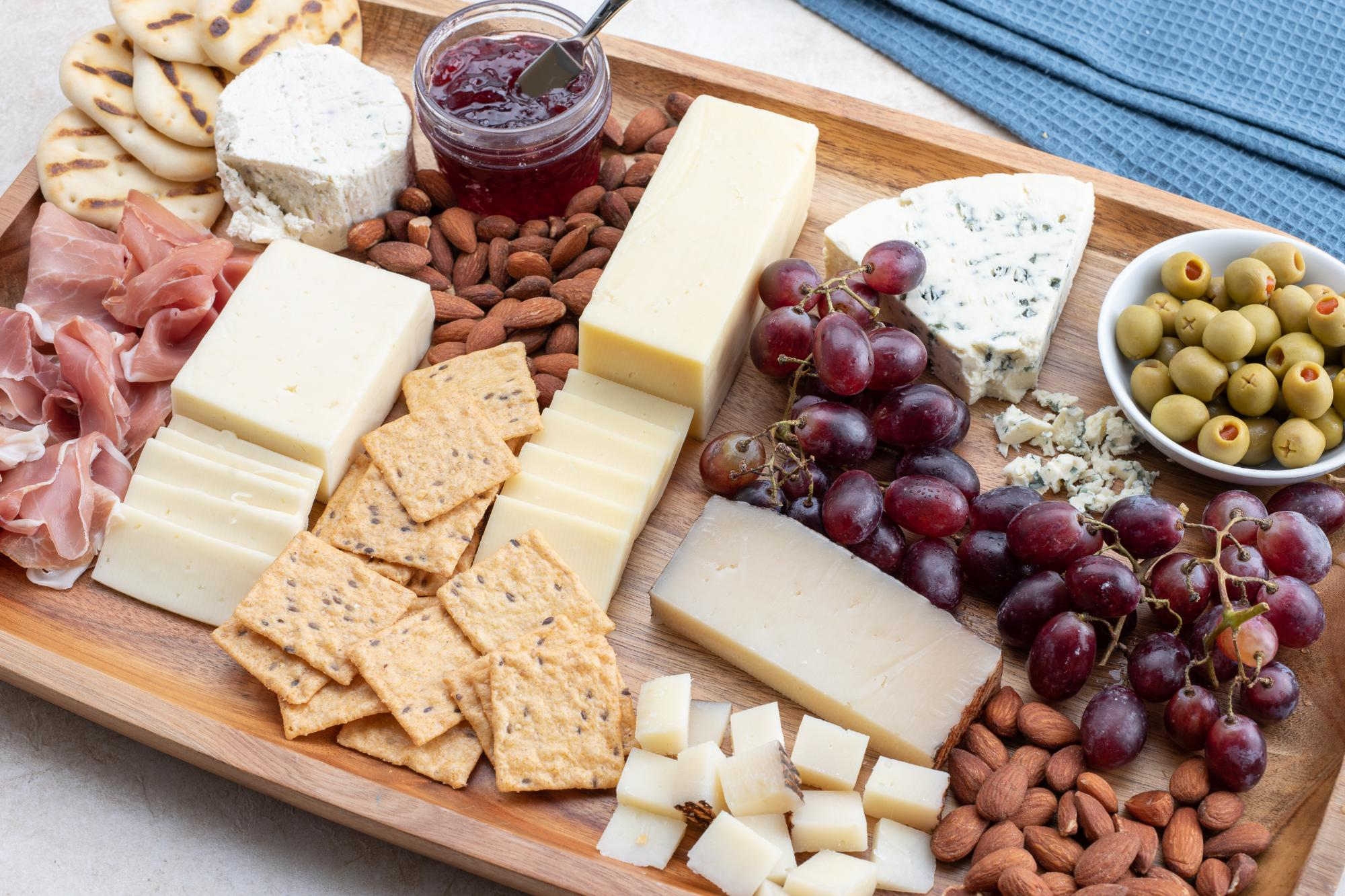 Completed cheese board.