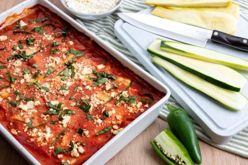 Zucchini and Chicken Lasagna Dinner