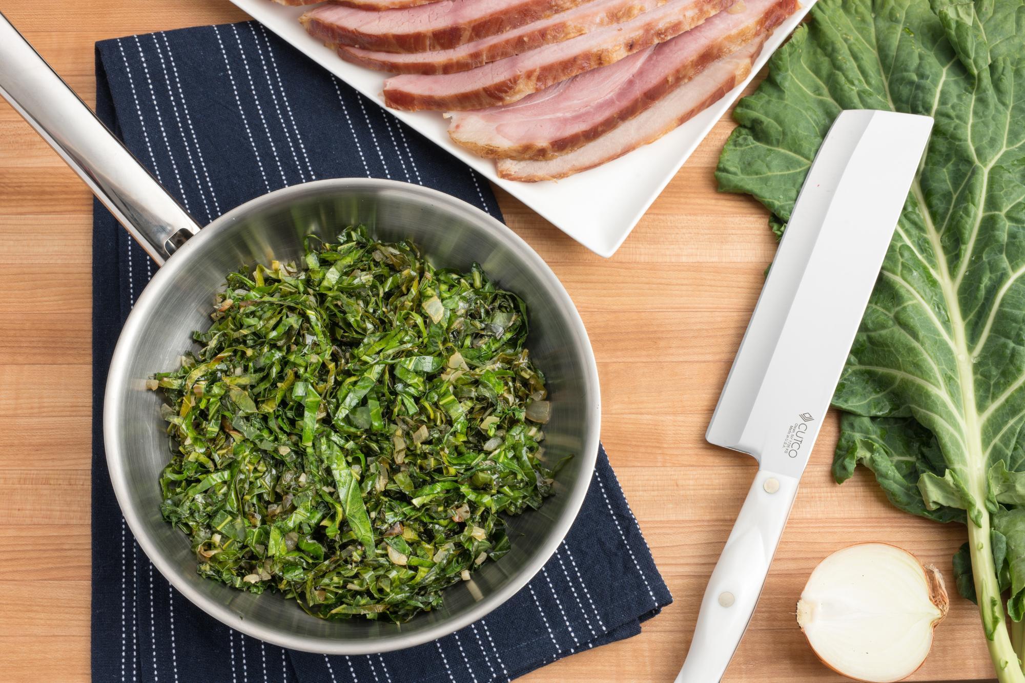 Stir-Fried Collard Green Ribbons