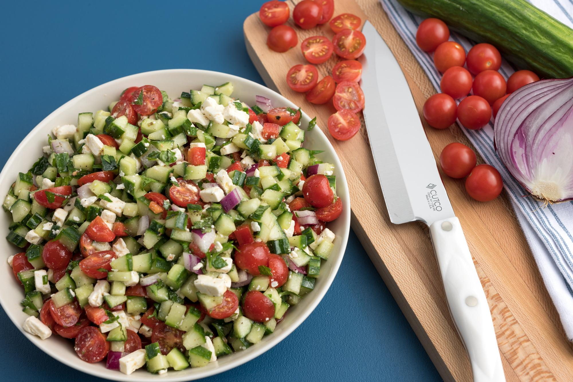 Cucumber and Tomato Chopped Salad