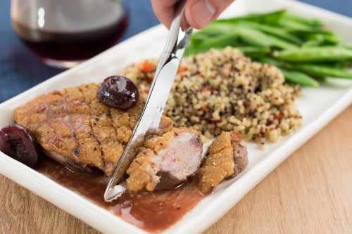 Duck Breasts with Cherry Port Sauce