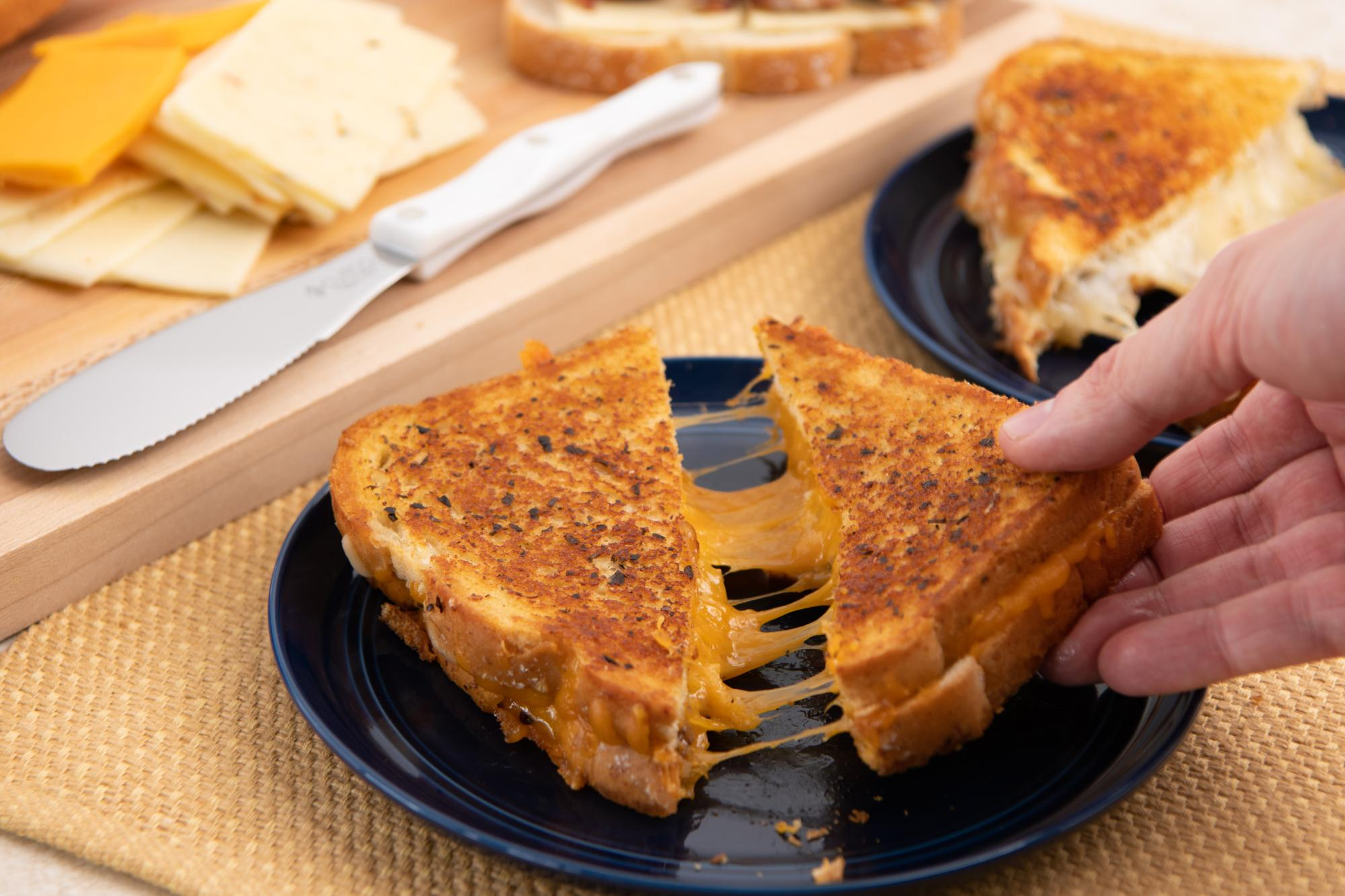 Grilled Cheese With Barbecue Meat