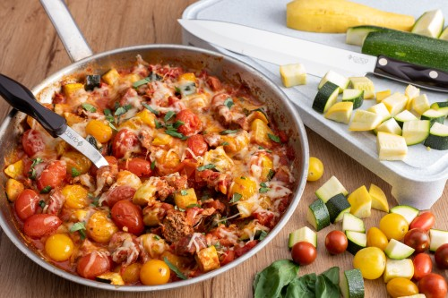 Italian Sausage Garden Skillet Dinner