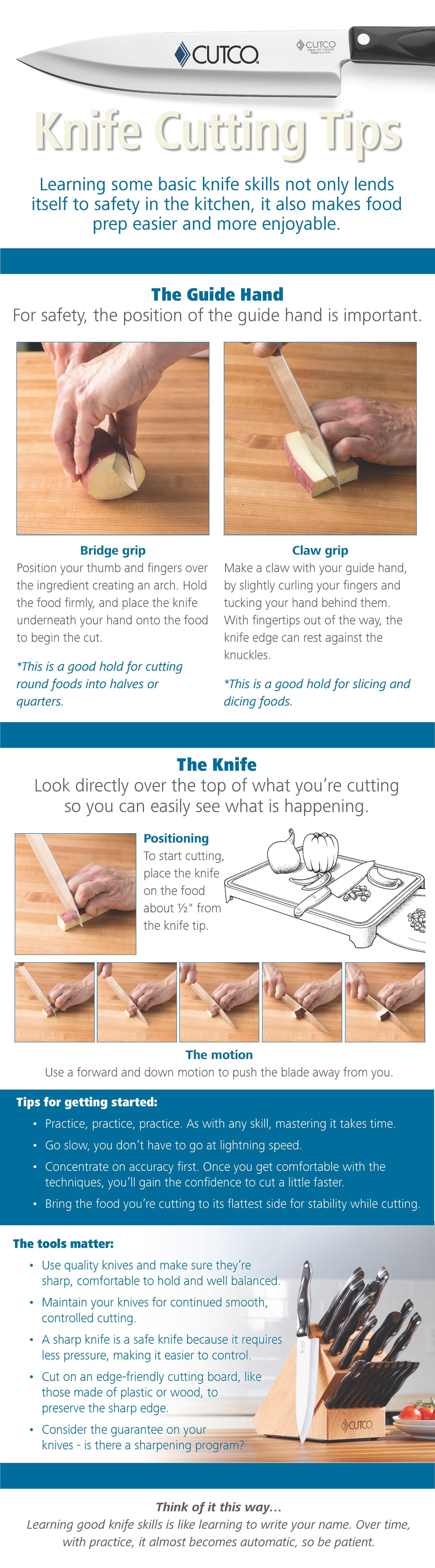 Knife Cutting Tips Infograph