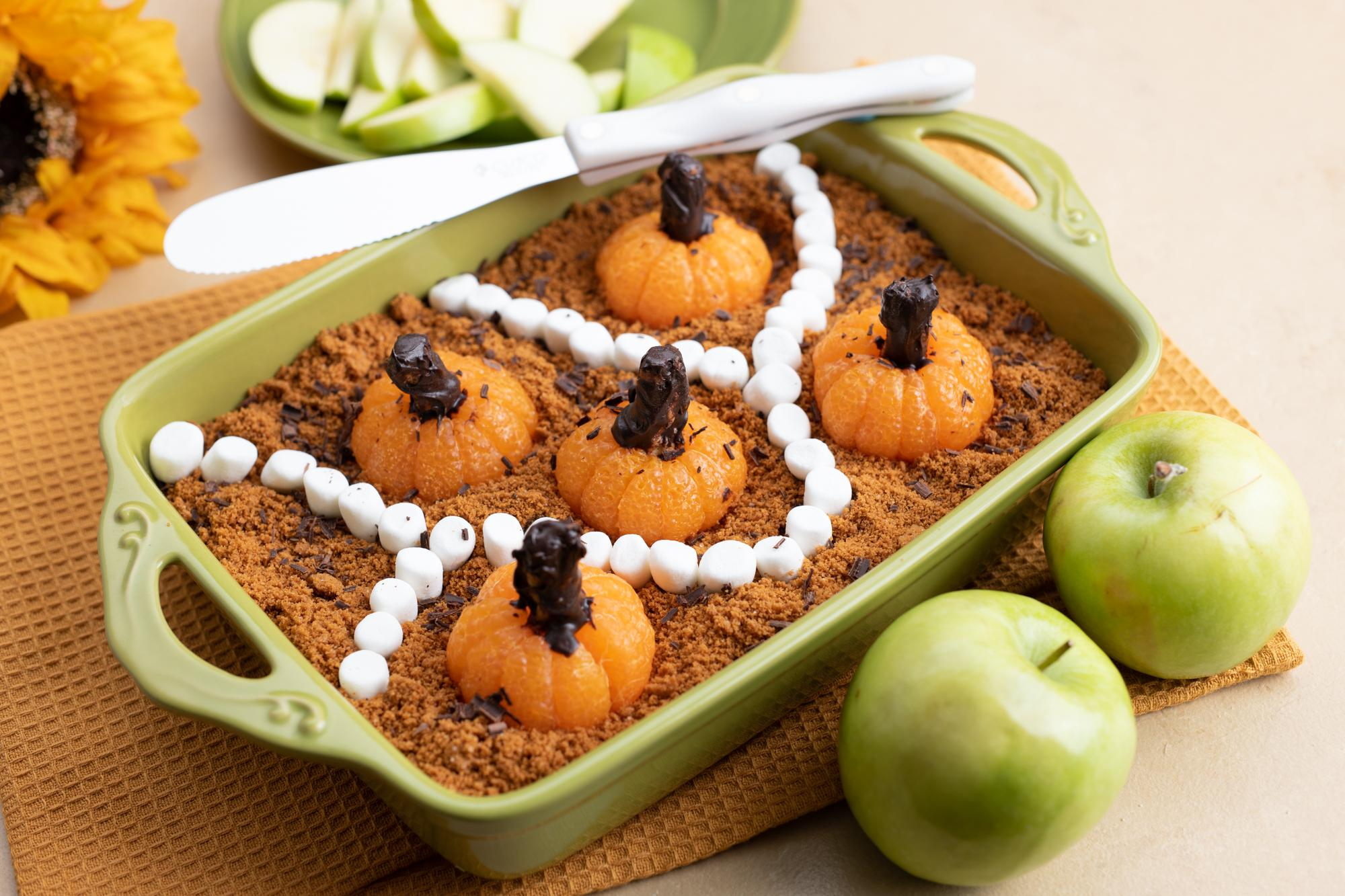 Layered Fruit Dip for Halloween