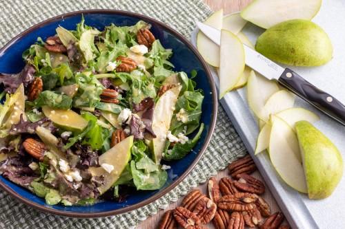 Pear, Arugula and Feta Cheese Salad