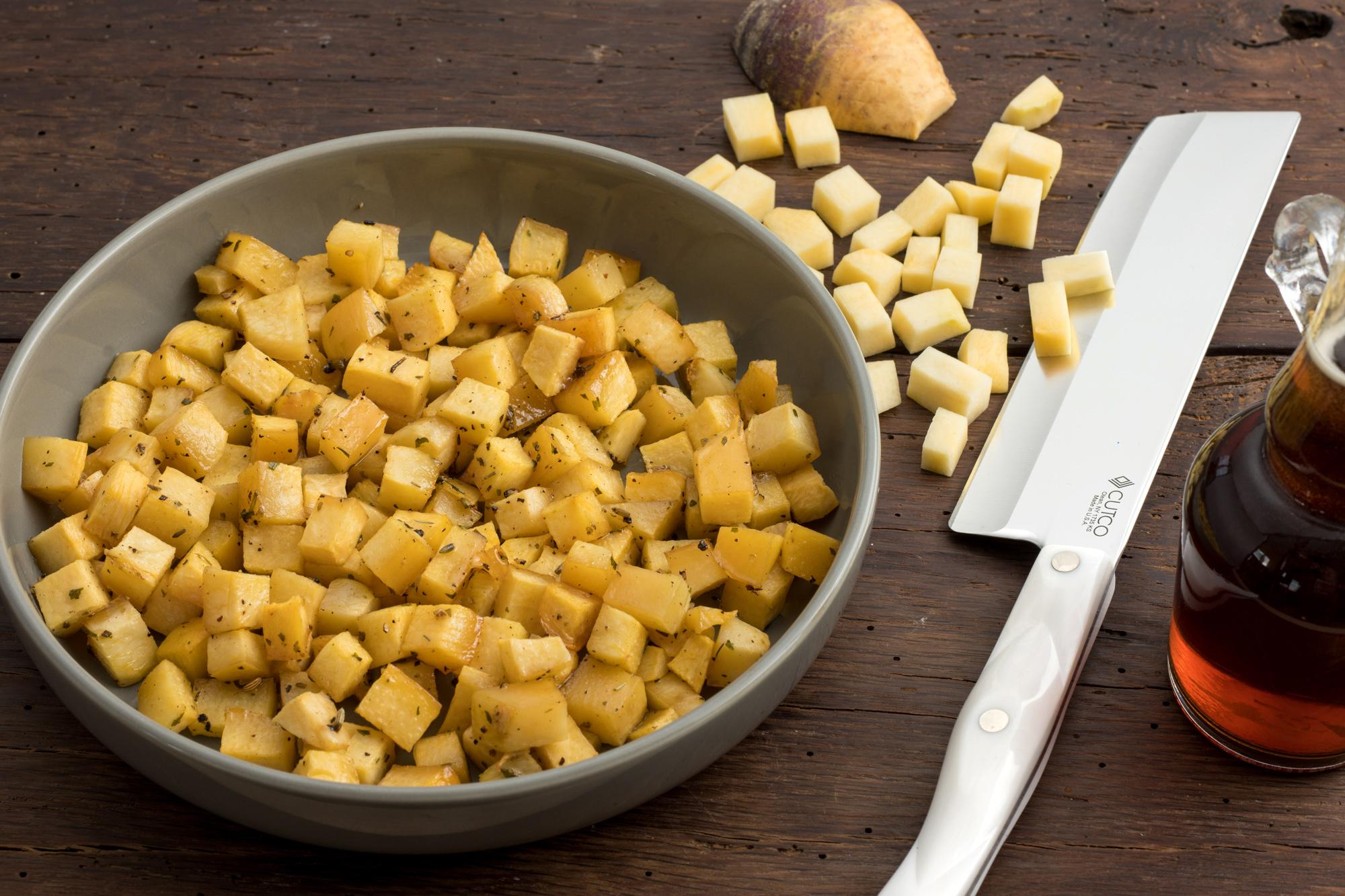 Roasted Rutabaga with Maple Syrup