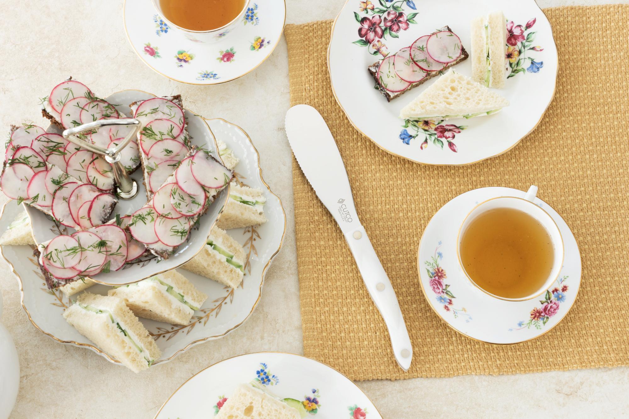 Assortment of tea sandwiches.