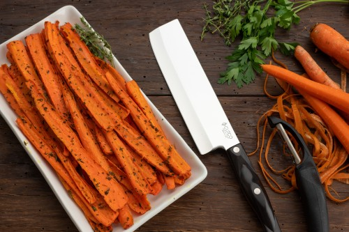 Thyme Roasted Carrots with Maple Syrup