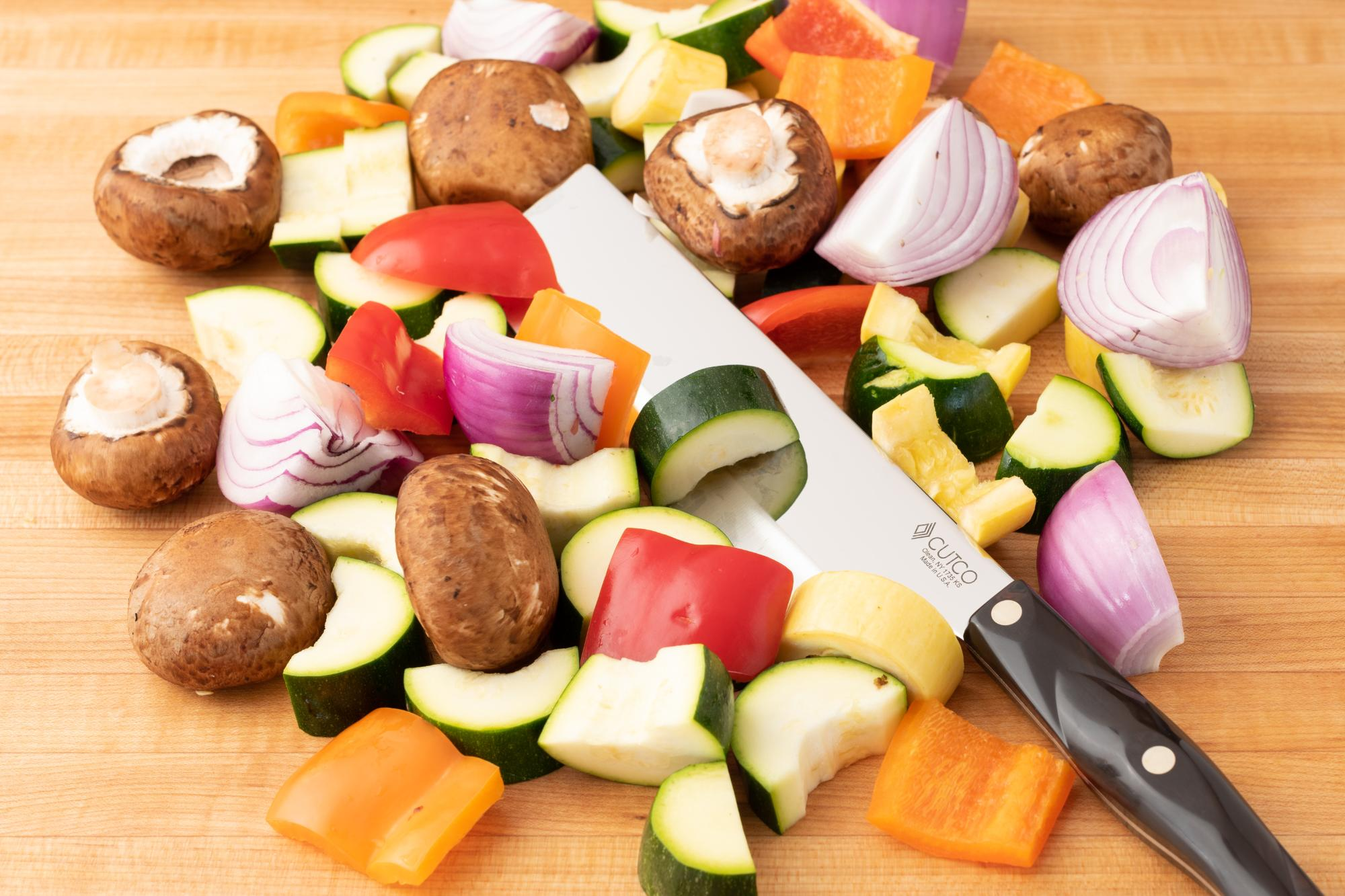 The Vegetable Knife handles the prep work with ease.