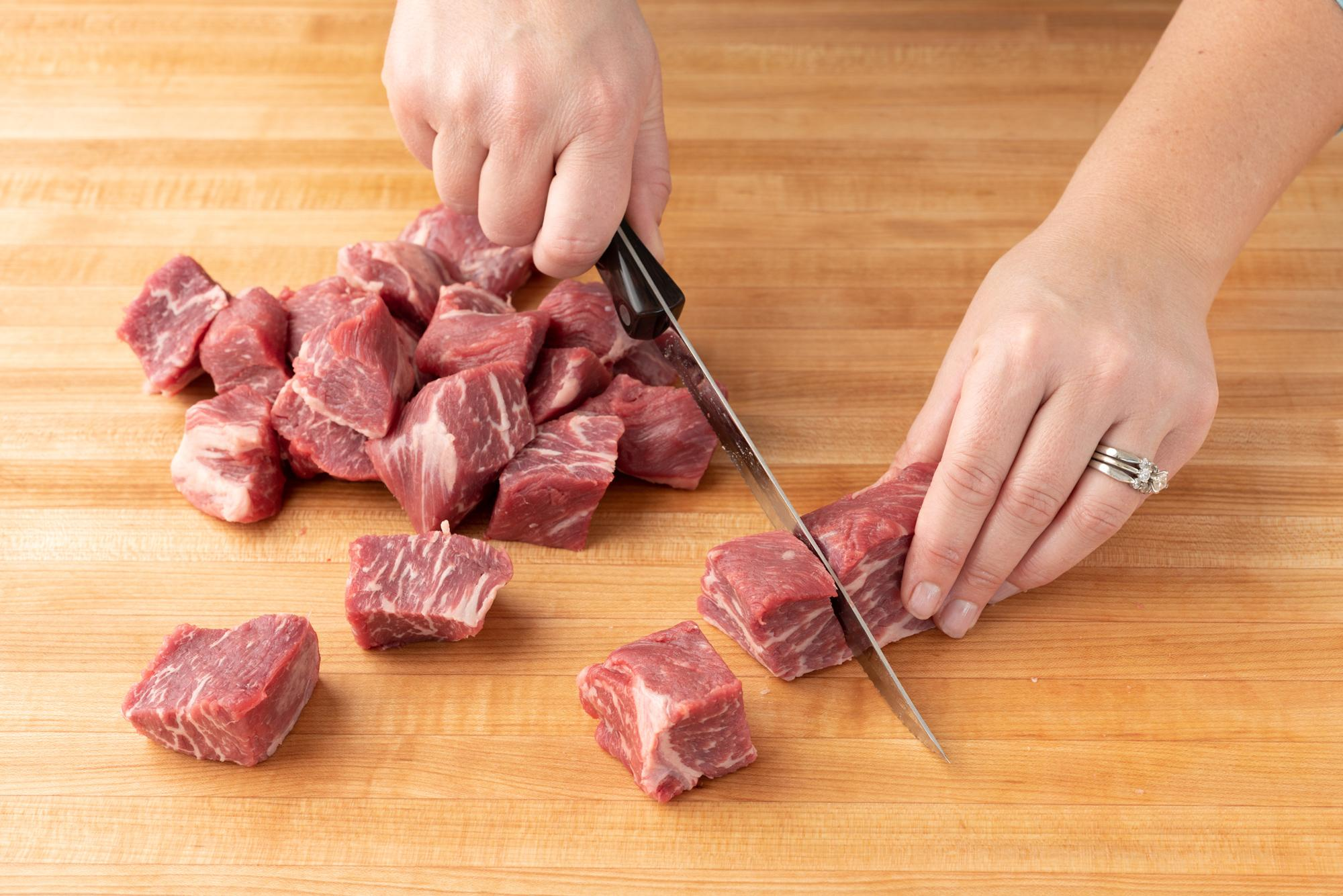 How to Cut Beef Tri-Tip into Cubes