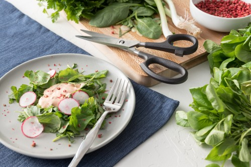 Watercress and Herb Salad with Pink Peppercorn Dressing