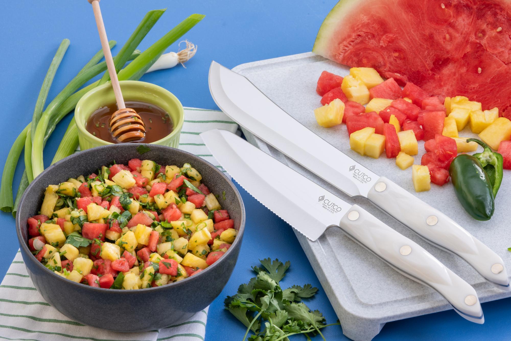 Watermelon Pineapple and Cilantro Salsa