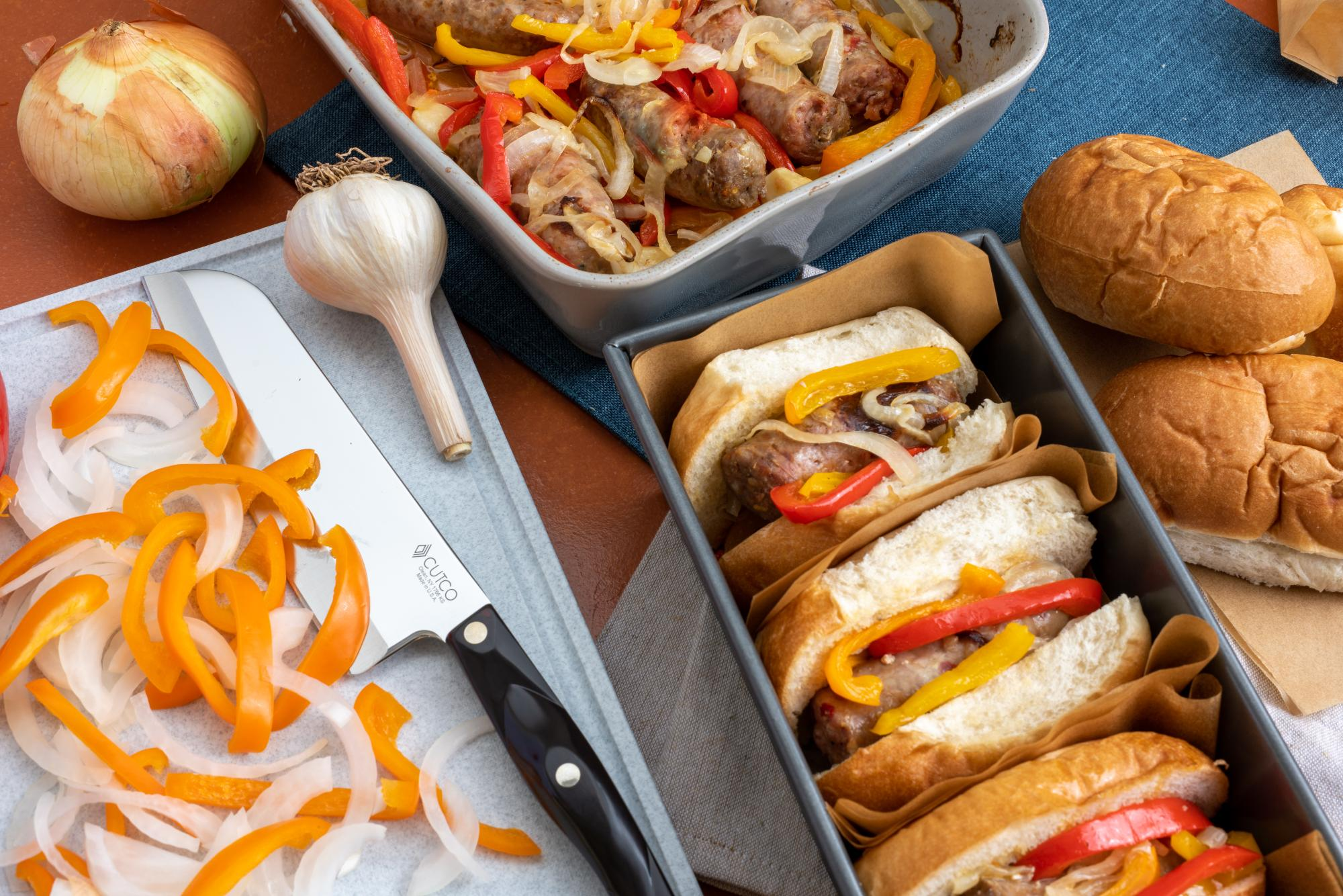 Oven Roasted Sausage with Peppers and Onions