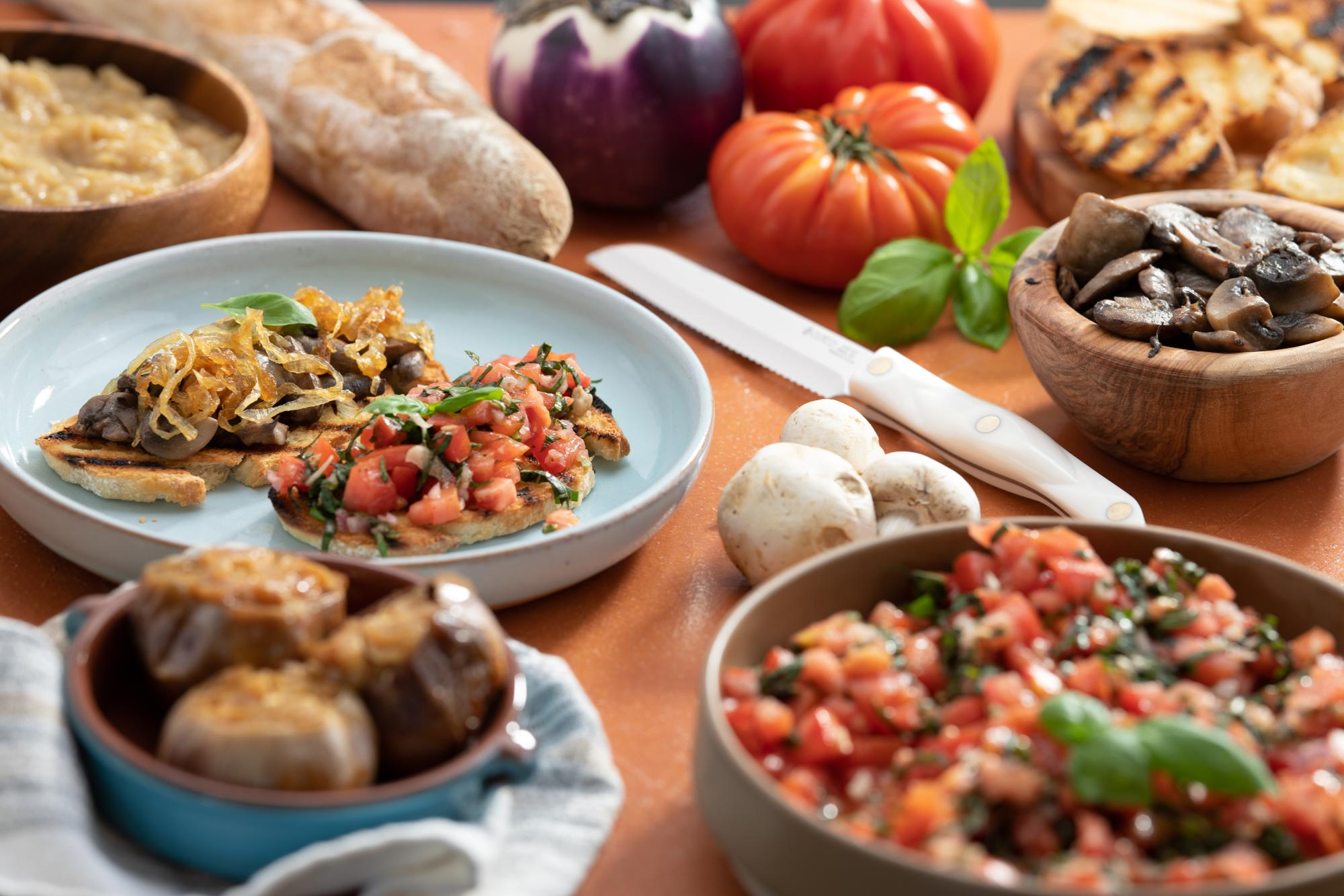 Bruschetta with 4 Topping Options