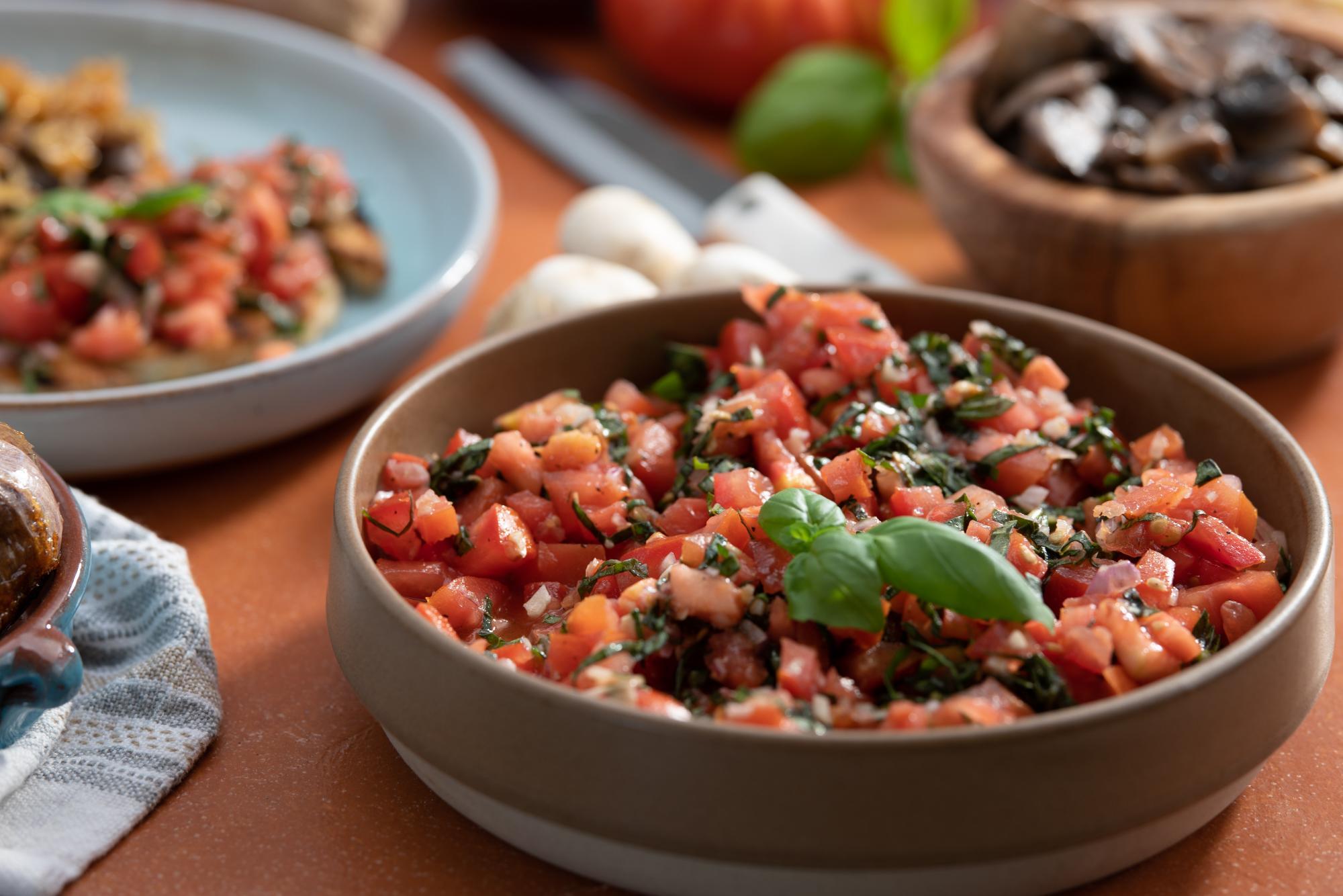 Fresh Tomato and Basil.