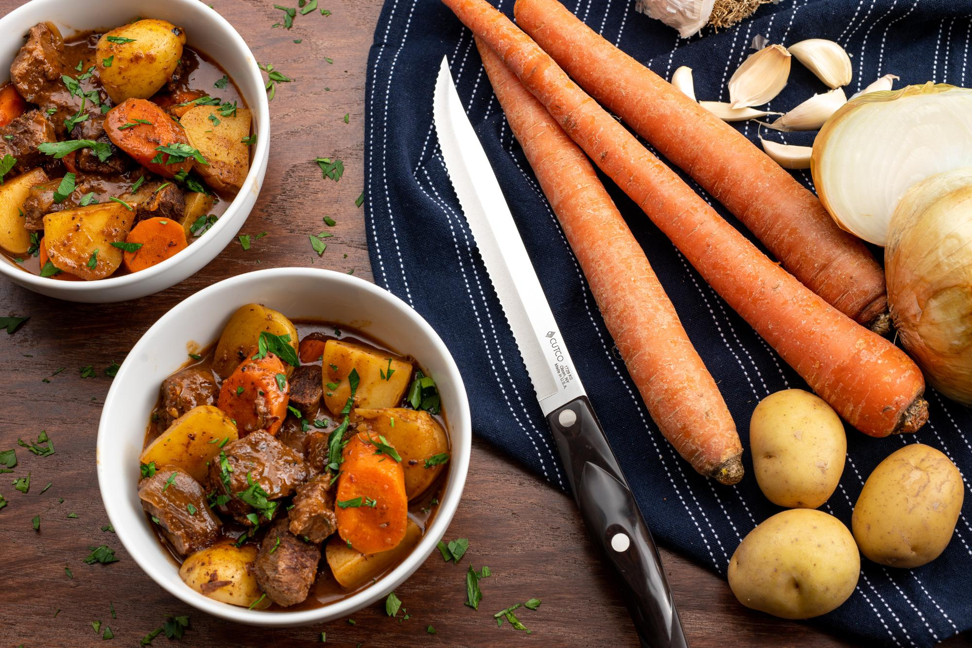 Traditional Beef Stew with Potatoes and Carrots