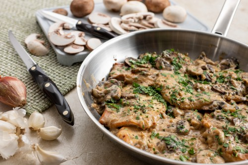 Chicken Marsala in a Creamy Mushroom Sauce