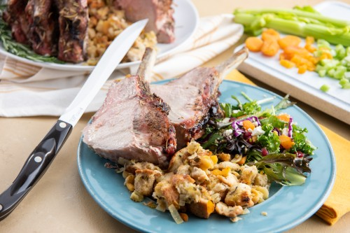 Crown Roast of Pork with Apples and Apricot Stuffing