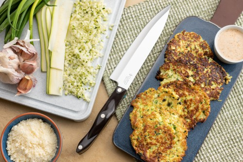 Fried Zucchini Cakes With Ricotta and Parmesan Cheese