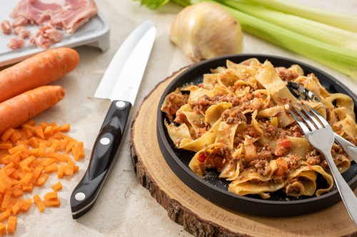 Italian Bolognese Sauce with Pancetta and Papperdelle