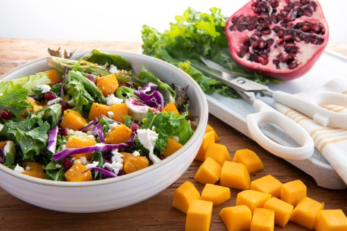 Kale, Butternut Squash and Couscous Salad with Vinaigrette