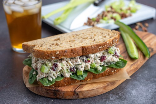Creamy Rotisserie Chicken Salad with Dill and Cranberries