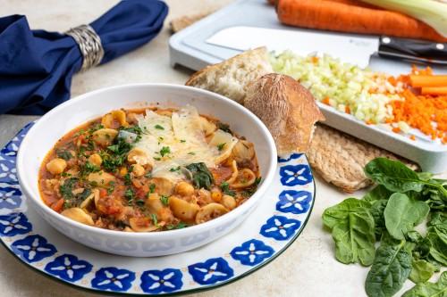 Tomato and Italian Sausage Pasta Soup