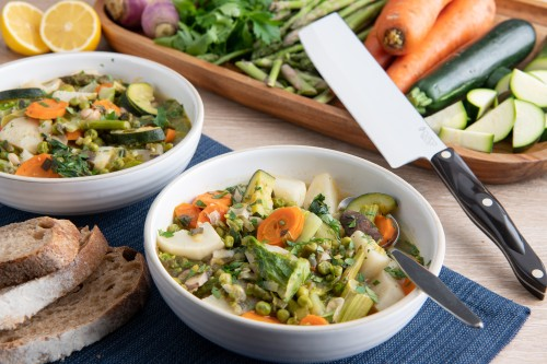 Spring Vegetable Stew with Turnips, Carrots and Asparagus