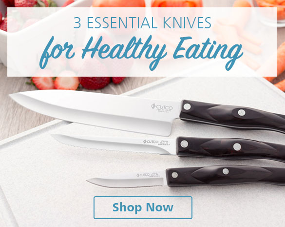 Three Essential Knives for Healthy Eating