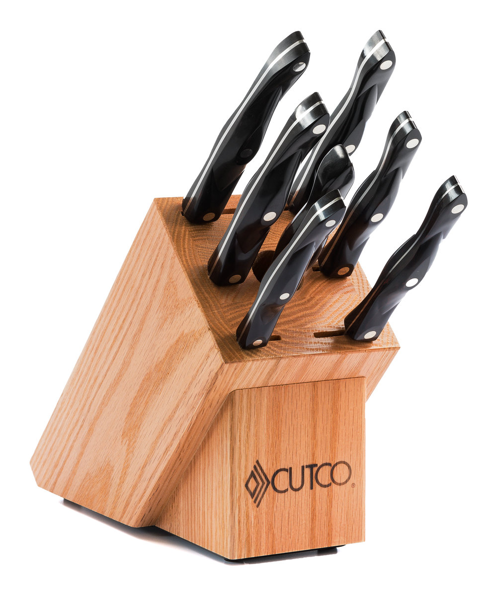 galley set with block 9 pieces knife block sets by cutco 9 1 4 quot french chef kitchen knives by cutco