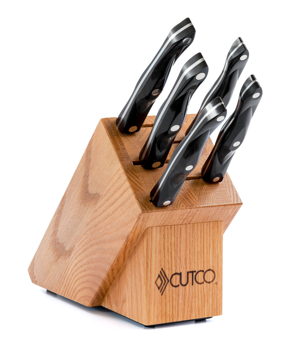 Gourmet Set With Block 7 Pieces Knife Block Sets By Cutco