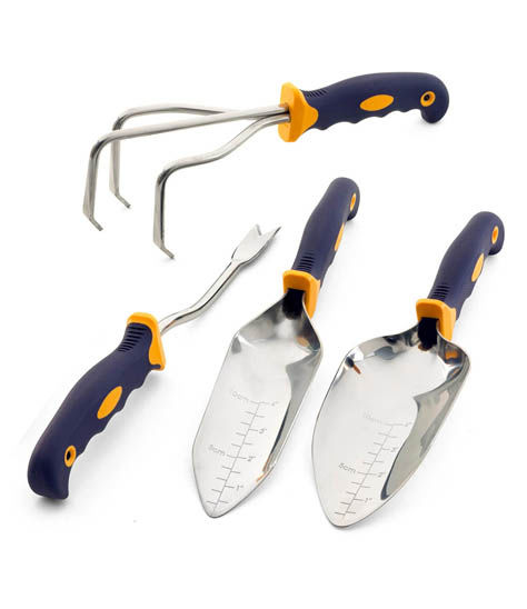 4-Pc. Garden Tool Set with Transplanting Trowel