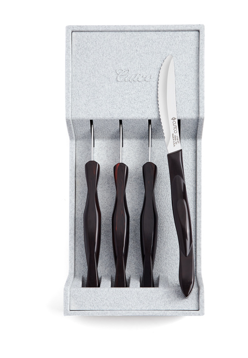 4-Pc. Table Knife Set with Tray