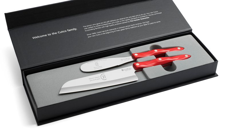 "2 Products in Gift Box - 7"" Santoku, Spatula Spreader,"