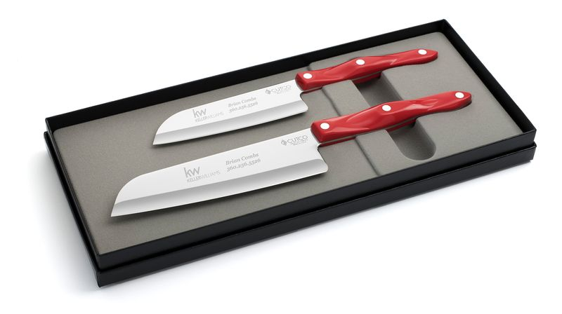 "2 Products in Gift Box - 7"" Santoku, 5"" Petite Santoku,"
