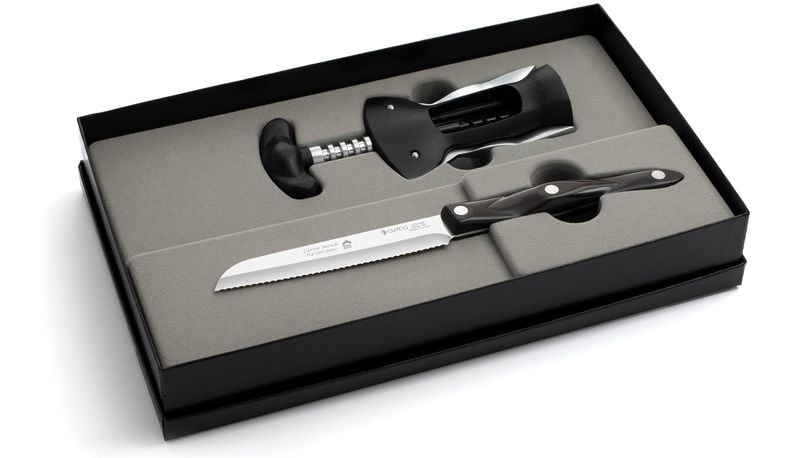 2 Products in Gift Box - Wine Opener, Santoku-Style Trimmer,