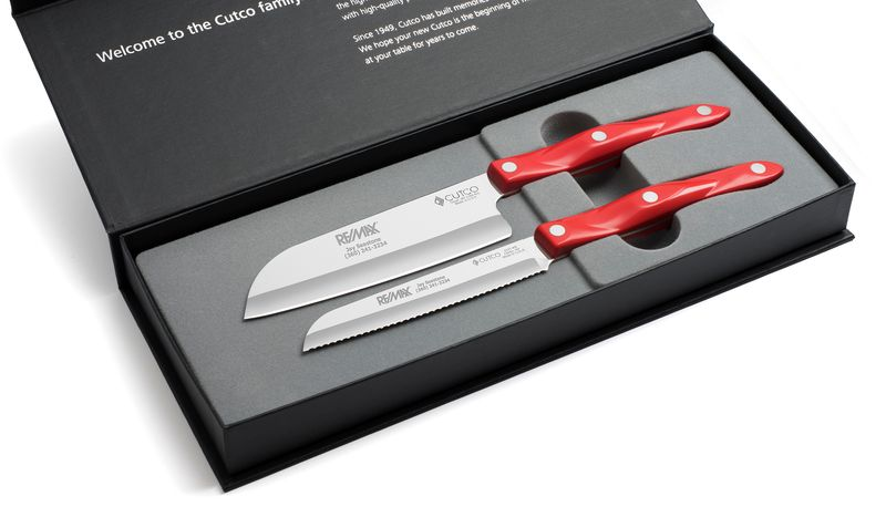 "2 Products in Gift Box - 5"" Petite Santoku, Santoku-Style Trimmer,"